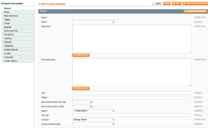Magento - Add Product admin interface