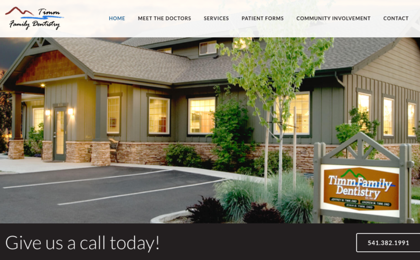 Website Redesign for Timm Family Dentistry