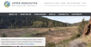 Upper Deschutes Watershed Council's Site Hacked