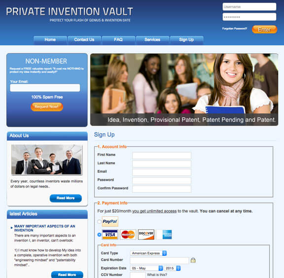 Private Invention Vault